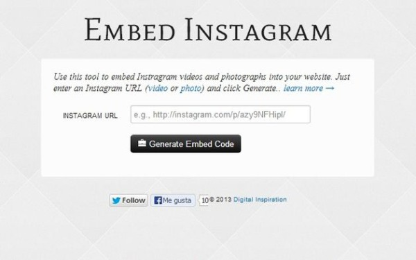 Embed Instagram insertar fotos videos blog