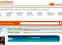FontZone fuentes texto tipografias gratis