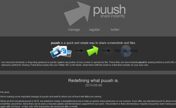 Puush capturas pantalla compartir