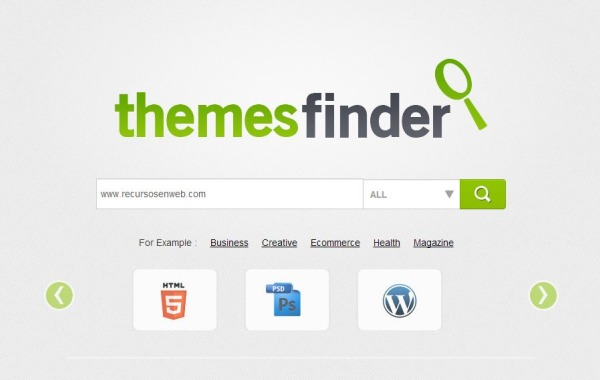 Themesfinder plantillas blogs