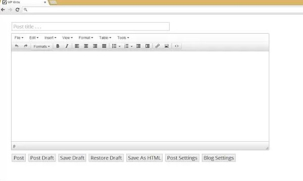 WP Write publicar Chrome WordPress