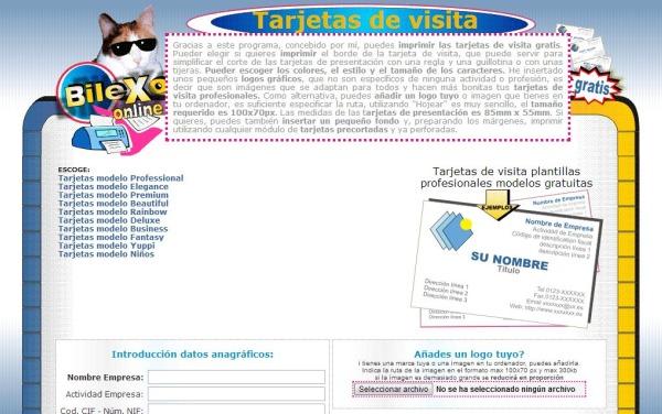 Crear imprimir tarjetas visita