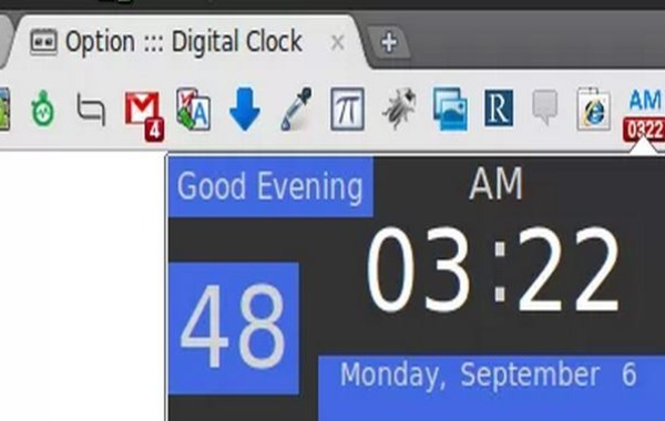 Digital Clock Chrome reloj alarmas