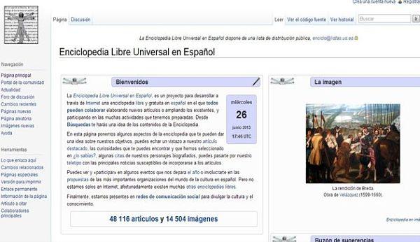 Enciclopedia Libre Universal en Español wikipedia biblioteca