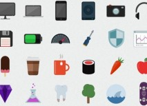 Flatilicious iconos PSD gratis