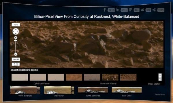 Fotografia panoramica Marte