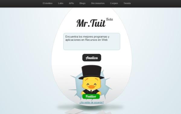 Mr Tuit sentimientos influencia Twitter