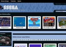 SSEGA juegos Megadrive navegador