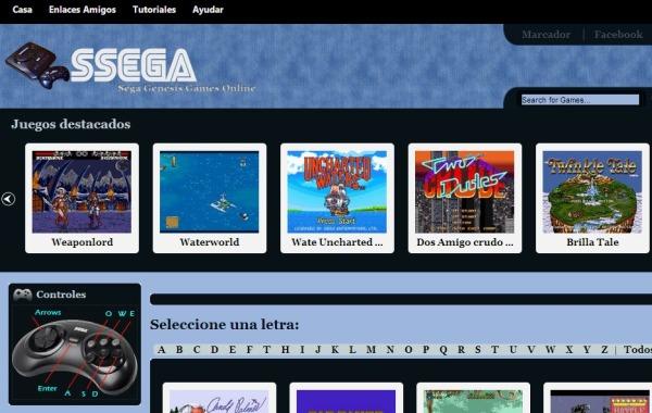 SSEGA juegos Mega Drive navegador