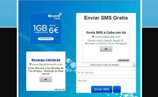 Smsgratisya enviar SMS gratis