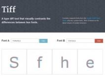 Tiff comparar fuentes texto tipografias
