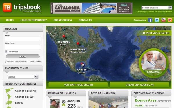Tripsbook red social viajeros