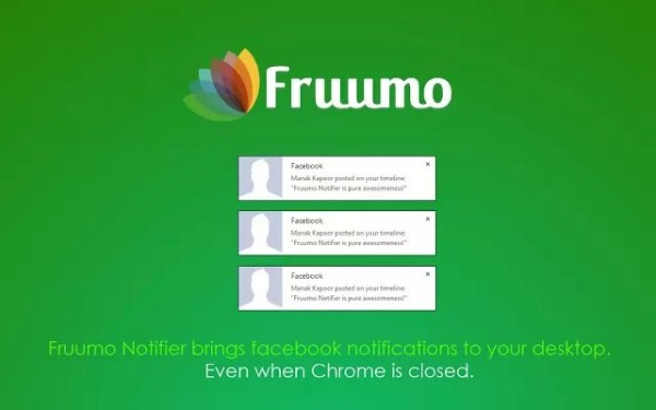 Fruumo Notifier notificaciones Facebook