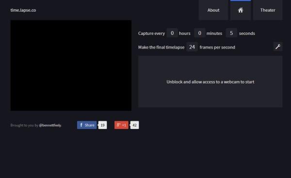 Time lapse videos webcam