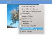 Save Image As PNG convertir WebP