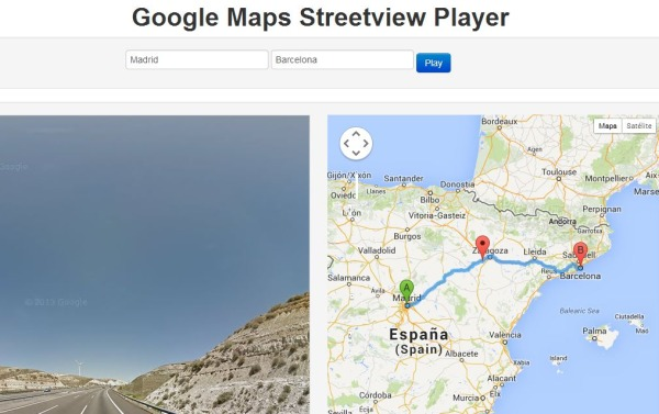 Streetview Player-recorrido-virtual