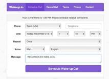 Wakeup despertador online movil