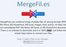 MergeFil unir archivos documentos
