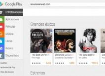 En la PlayStore de Google podrás descargar música, aplicaciones, juegos, películas, libros y revistas